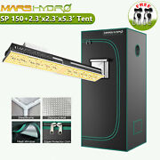 Mars Hydro Sp150 Led Grow Light+2and039x 2and039x 5and039 Indoor Tent Combo Small Box For Veg
