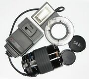 Lester A. Dine 105mm F2.8 11 Macro Nikon Ais Mount With Ring Flash 18913689