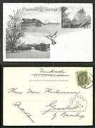 Kristiania Oslo Akershus Fortress Norge Norway Stamp 1899