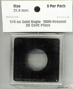 Intercept Shield Square 2x2 Coin Capsule Holds 21.9mm -3 Pack Is2217