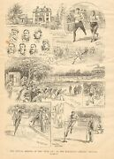 Ny. Manhattan Athletic Grounds Track Meet Five Aand039s Vintage 1890 Antique Print