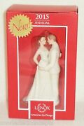 Lenox 2015 Wedding Day Always And Forever Bride And Groom Christmas Ornament