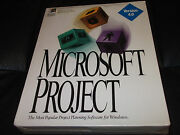 Qty-1 Microsoft Project V4.0 Vintage Software W/ 3.5 Diskettes Rare Unopened
