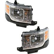 Headlight Set For 2009 2010 2011 2012 Ford Flex Left And Right With Bulb 2pc