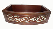 13 Apron Front Farmhouse Kitchen Mexican Copper Sink Leaf Guide Single Well