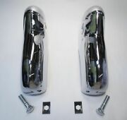 55 1955 Chevy Hardtop And Sedan And Convertible Chrome Rear Bumper Guards Pair