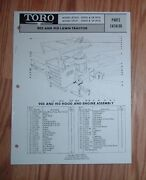 Toro Parts Catalog 905 And 910 Lawn Tractor