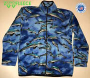 Zoofleece Winter Blue Dolphins Jacket Coat Ugly Sweater Cloak Gift For Her Usa