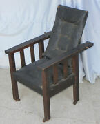 Antique Mission Oak Childs Morris Chair - Arts And Crafts