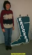 Large Old Cowboy Boot Trade Advertising Shoe Sign Done In The Shape Of A Boot