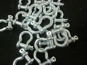 100 1/2 Bow Shackle Anchor Pin D Ring Chain Recovery Tow Marine Boat 2 Ton