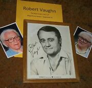 Robert Vaughn Autographed Photo Framed And Photos Superman Real Collectible