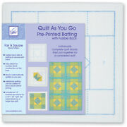 June Tailor Quilt As You Go Printed Quilt Blocks On Batting-fair And Square