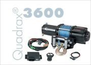 Quadrax 3600 Winch With 40and039 Of 5.8mm Synthetic Rope 3600lbs Wireless Remote