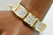Womenand039s 30 Ct Simulated Diamond Luxury 12 Mm 8.25 In Bracelet In 14k Solid Gold