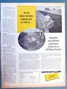 Orig 1959 Caterpillar D4 Tractor Ad For The Biggest Material Handling Jobs