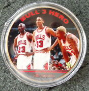 Michael Jordan 1 Oz 24 Kt .gold Plated Collectible Coin  7