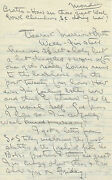 William Bill Tilden Ii Autographed Letter And Envelope Signed Circa 1949