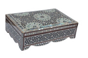 Egyptian Mother Of Pearl Paua Shell Inlaid Jewelry Box 14 X 9 By Order 604