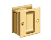 Passage Pocket Door Hardware 2-1/2 X 2-3/4 Solid Brass In 11 Finishes