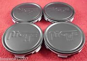 Niche Wheels Flat Black Custom Wheel Center Caps Set Of 4 M-773 / 1003-22