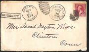 Usa 220 Stamp Michigan Illinois Connecticut Auxiliary Marking Rpo Eku Cover And03990