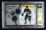 2005-06 Sidney Crosby Sp Game Used Game Gear 34/100 2 Colors Bgs 9.5 Pop 5