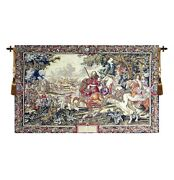 Renaissance Large Wall Tapestry Wallhanging Le Roi Soleil / Louis Xiv King Scene
