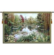 Gardens At Giverny Tapestry Monet Pond Impressionist Art 83x136