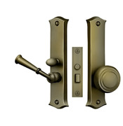 Storm Door Replacement Classic Latch- Mortise Lock Brass 9 Finishes Deltana