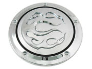 Chrome 5-hole Flame Derby Cover Fits Harley-davidson