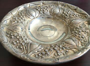 Antique Art Nouveau Candy Dish Circa 1900 Sterling Silver Stamped