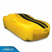 Coverking Satin Stretch Yellow Car Cover Black Stripes 2010 To 2015 Camaro Coupe