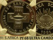 South Africa 1991 Rand Ngc Proof 68 Ultra Cameonursing 100 Yearsfree Shipping