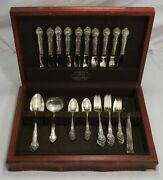 English Gadroon By Gorham Sterling Silver Flatware Set - 49pc