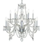 Crystorama Traditional Crystal Spectra Crystal Chandelier - 1135-ch-cl-saq