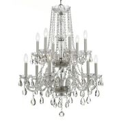 Crystorama Traditional Crystal Spectra Crystal Chandelier - 1137-ch-cl-saq