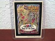 Vintage Wacky Packages Fruit Of The Tomb Mummy T-shirt Sticker Card Tan Back