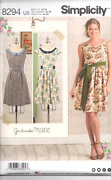 Simplicity Sewing Pattern 8294 Misses And Plus Gertrude Made 16-24 Dress Sash New