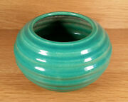 VINTAGE GARDEN CITY HANDTHROWN RING RINGED ROSE BOWL VASE CALIFORNIA ART POTTERY