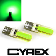 2 Cyrex Green Replacement Upgrade Led Light Bulbs For Interior/exterior Auto B3