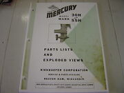 Mercury Outboard Parts Mark 30h And 55h Parts Manual