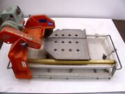 Used Mk Diamond 10 Inch Wet Tile Saw Mk-101 Pro24 Circular Cutting Stand And Blade