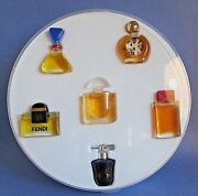 Mini Perfume Set Of 6 Fendi Lalique Bal A Versailles Dolce And Gabbana Red Vintage