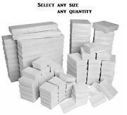 White Swirl Cotton Filled Gift Boxes Jewelry Cardboard Box Lots Of 2050100