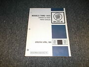 1966 Buick Skylark Special Wildcat Chassis Body Text Parts Catalog Manual Book