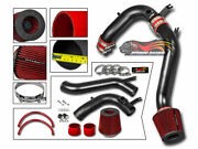 Matte Black Cold Air Induction Intake Kit + Dry Filter For 08-12 Accord 2.4l L4