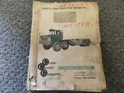 Ccc Crane Carrier Company Model Hc-78a Truck Parts Catalog And Service Manual Book
