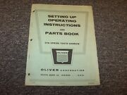 Oliver Sth Spring Tooth Harrow Parts Catalog And Owner Operator Instruction Manual
