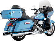 Vance And Hines Chrome Hi-output Slip-ons Mufflers For Harley Touring 95-16 Flh/t